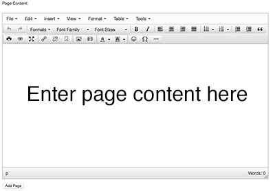 Page Content Editor